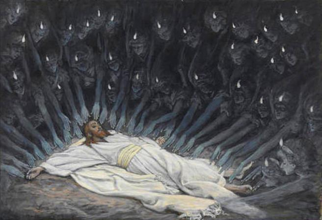 Jesus Ministered to by Angels by James Tissot